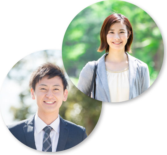若い男性と女性